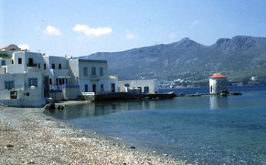 Travel to Leros Photo Gallery  -  THE WINDMILL OF AGIA MARINA
